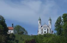 Blick auf den Kalvarienberg
